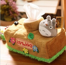 Neighbor Totoro towel paper box chinchilla Hayao Miyazaki animation creative vehicle Home Furnishing tissue cover(China (Mainland))