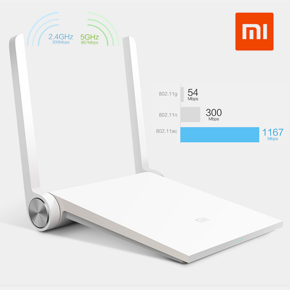 2015 Brand Original Xiaomi Wireless Router Mi Wifi Dual-band 2.4GHz/5GHz 1167Mbps Wi-Fi Mini 802.11ac Support iOS/Android APP - SUMTOP TECHNOLOGY CO.,LTD. store
