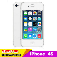 original Apple Iphone 4s Factory unlock phone Dual core 16GB 32GB+512MB Storage 8MP Camera GPS 3.5'' TouchScreen used phone(China (Mainland))