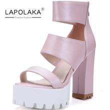 Popular Zip Square High Heels Party Wedding Prom Dress Summer Shoes Woman More Colors Open Toe Platform Gladiator Sandals(China (Mainland))