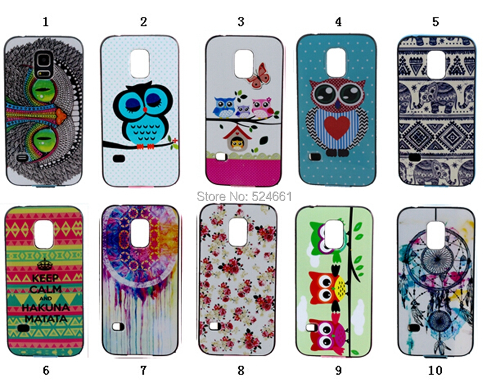 Heat Sell Bumblebee Painting Fig tpu+pc Edge New Type windmill Owl Elephant Pattern Samsung Galaxy S5 Mini G800 phone case - Shenzhen Wei Jia Xing Electronic Co., Ltd. store