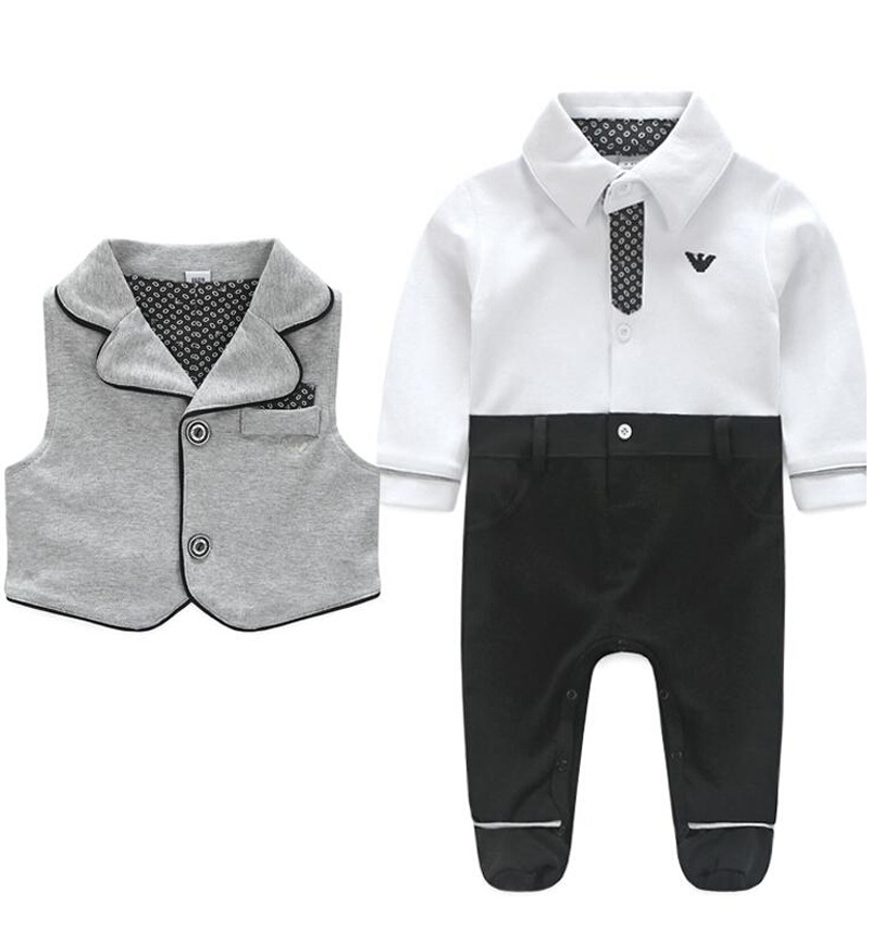 new home in autumn 2015 and autumn 100% cotton long-sleeved leotard baby Romper baby clothes 2 sets<br><br>Aliexpress