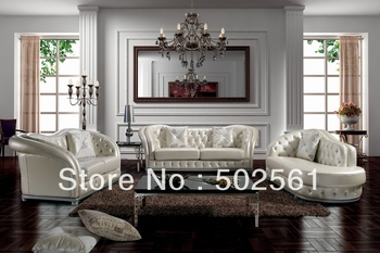 2014 new post modern sectional leather sofa European style living room furniture 1+2+4 with crystal
