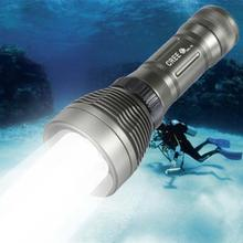 Top Quality Underwater CREE XM-L T6 2600LM 8-Mode LED Diving Flashlight Torch Brightness Waterproof 80m White Light LED Torch(China (Mainland))