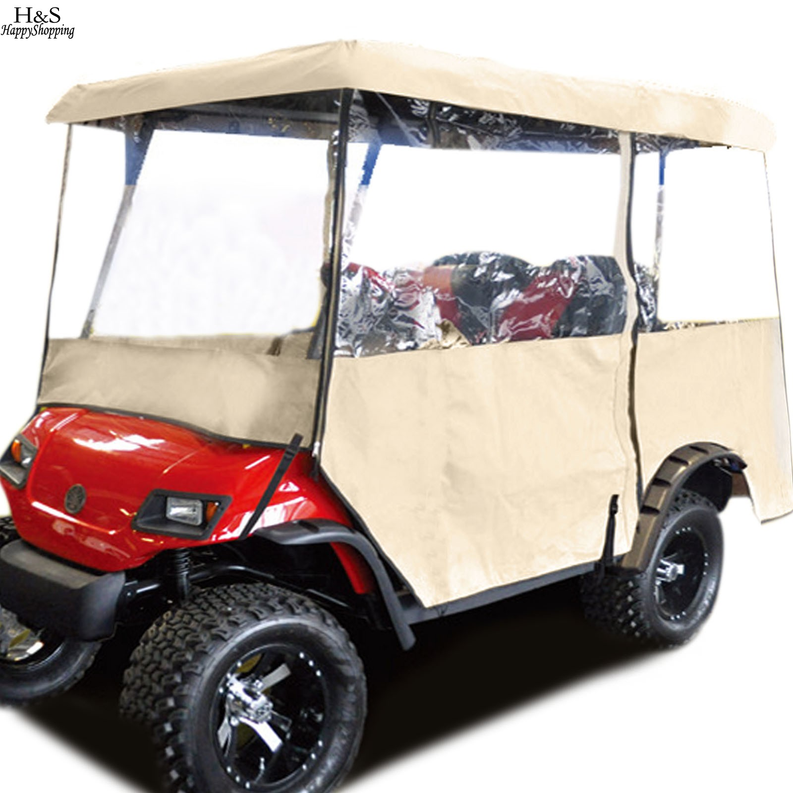 2016 ANCHEER 2 Person Driving Golf Cart Club Car Rain Roof Cover Enclosure with Carry Bag drop shipping