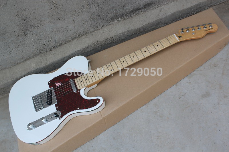 Chinese musical Instruments Factory custom 2015 New white TL guitar electric guitar red Pick Guard free shipping 412(China (Mainland))