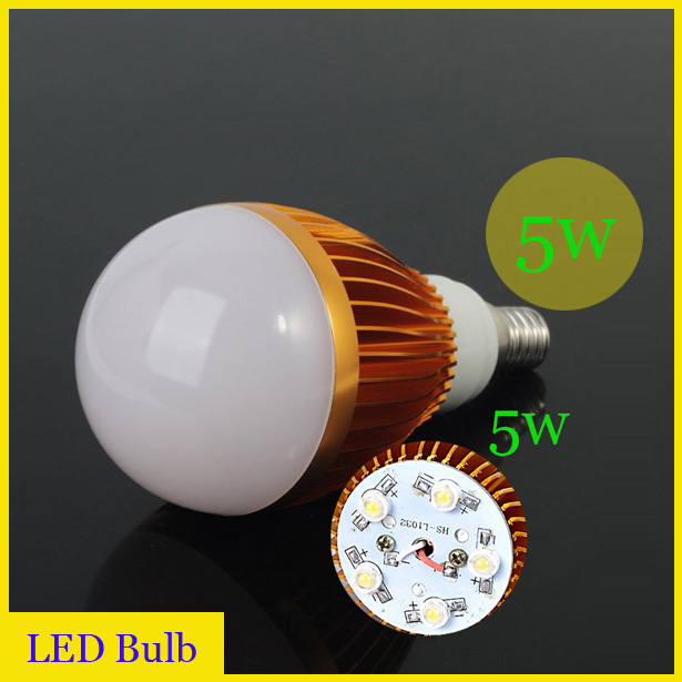 OWG(10pieces/lot) energy saving led bulb lamp e14 5w LED Light Blub Lamp White/Warm white - ZEROGEM Lighting Co., LTD store