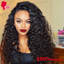 "250% High Density Glueless Full Lace Human Hair Wigs For Black Women 7A Malaysian Deep Curly Lace Front Human Hair Wigs 12""-24""(China (Mainland))"