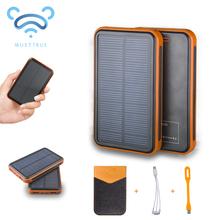 Solar Power Bank Dual USB Powerbank 10000mAh External Battery Portable Charger Bateria Externa Pack for Mobile phone(China (Mainland))