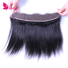 Cheap 7A Brazilian Straight Lace Frontal Closure With Baby Hair 13X2 Virgin Human Hair Lace Frontal Closure Free Shipping(China (Mainland))