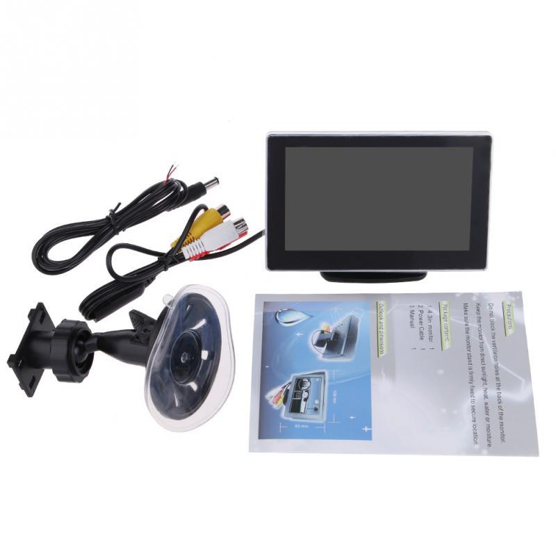 "3W DC12V 4.3"" Inch Slim Dual NTSC / PAL LCD Car Display Device for DVD VCD Video(China (Mainland))"