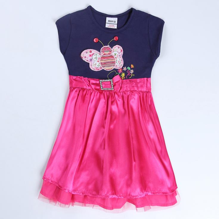 Baby Girl Dress Cotton Kids Clothes Lovely Girl Dress 2015 New Fashion Dress For Children Wear Hot Top(China (Mainland))