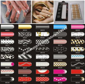 Free Shipping 520 Kind Design Self Adhesive Minx Style Metallic nail art wraps sticker foils cover decals decoration strips