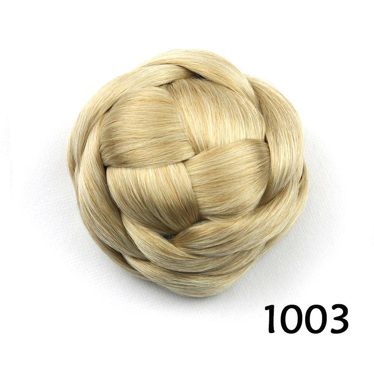 golden hair bun, hair chignon hairpiece, hair pieces bun, rosquinha cabelo, color 1003<br><br>Aliexpress