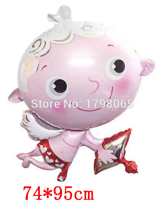 new arrival 50pcs/lot 95*74cm Cupid foil balloons Wedding Valenties Day Holiday Party Decorations Ball For Wedding Globos Party<br><br>Aliexpress