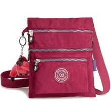 JINQIAOER Original Women Nylon Waterproof Shoulder Bag Multifunction Lady Casual Messenger Travel Monkey Flap Bag Bolsa Feminina