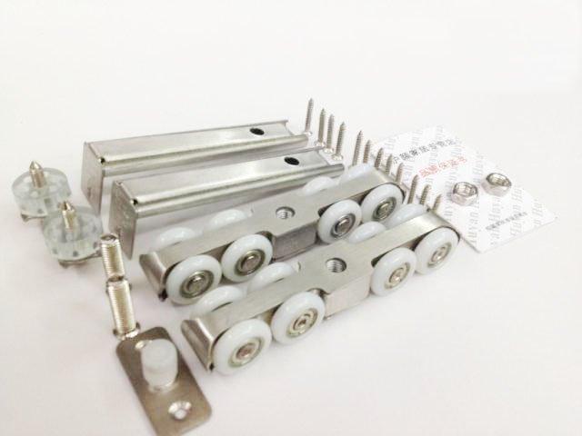 Stainless steel wooden door hanging wheel bearing sliding door hanging wheel( bearing 120KG)