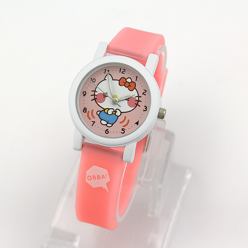 1pc Hello Kitty Christmas Gift Boys Girls Fashion Casual Cartoon Children's Quartz Watches(China (Mainland))