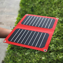 SUNPOWER Solar Panel 14 Watts PowerGreen Waterproof Solar Power Bank Portable Charger for Outdoor for Hiking