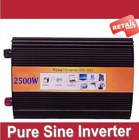 DC naar AC 2500W Pure inverter 2500w Pure Sine Wave Solar Inverter CE ROHS Approved dc 24v to ac 220v 50HZ free shipping !
