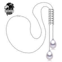 FENASY pendants natural Pearl necklace 2016 Double Pearl jewelry charmnecklace women accessories AliExpress punk necklace(China (Mainland))