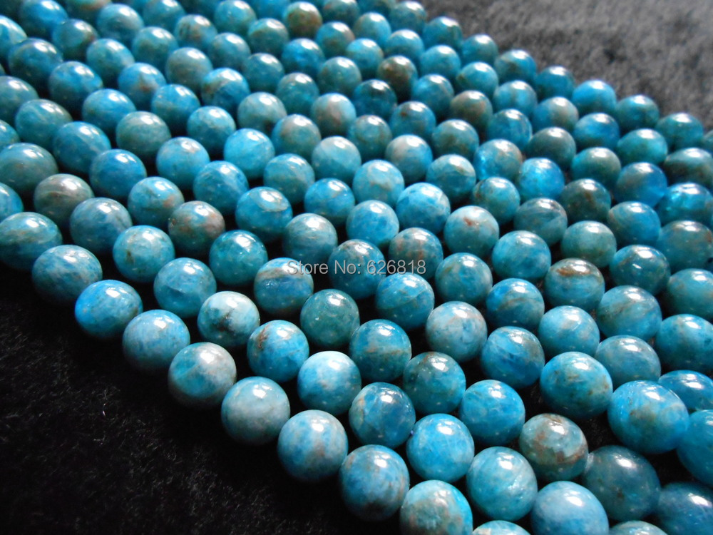 Free shipping natural 8mm blue apatite round loose gem stone beads for jewelry making<br><br>Aliexpress