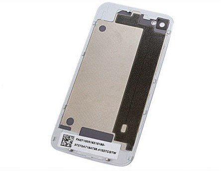 free shipping new White for iphone 4S Compatible Battery Door Back Cover Rear Glass Frame Housing