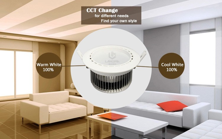 4x 6w led cct downlight android ios smartphone control cutout 80mm + 1x wifi box/controller + 1x 2.4g RF 4 channel led remote
