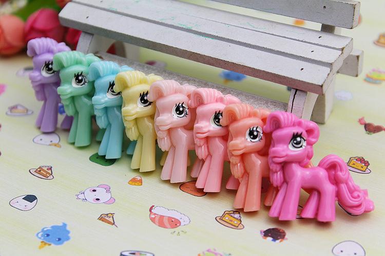 kawaii cabochons My Little Pony figurine Cartoon flat back resin crafts Diy Hair Accessories Holiday garden decoration(China (Mainland))