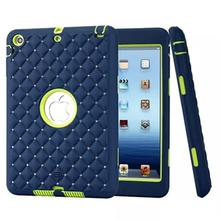 Luxury brand new For iPad mini 1/2/3 Retina Case Bling Rhinestone Kids Safe Shockproof Heavy Duty Silicone Hard Case Cover(China (Mainland))