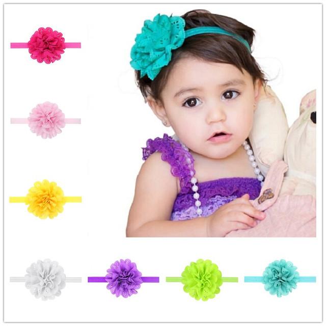 Летом стиль аксессуары для волос baby girl цветы повязка Младенческая Bebes эластичные ...