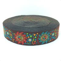 2015 NEW  wholesale 7/8'' 22mm Wide Color sunflower Woven Jacquard Ribbon lace 10yards/lots KT2015032001