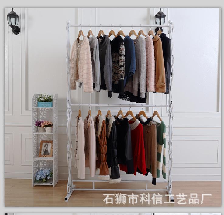 Iron wedding display rack parallel bars in the island shelf garment rack double garment rack clothing rack clothes<br><br>Aliexpress