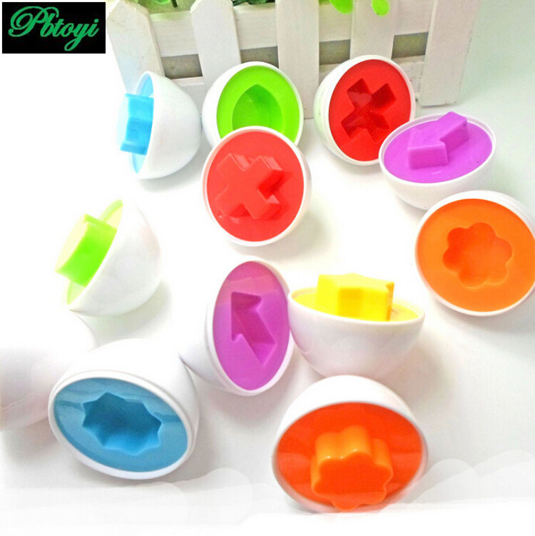 Hot sale learning education toys mixed shape wise pretend puzzle smart egg baby toys(China (Mainland))