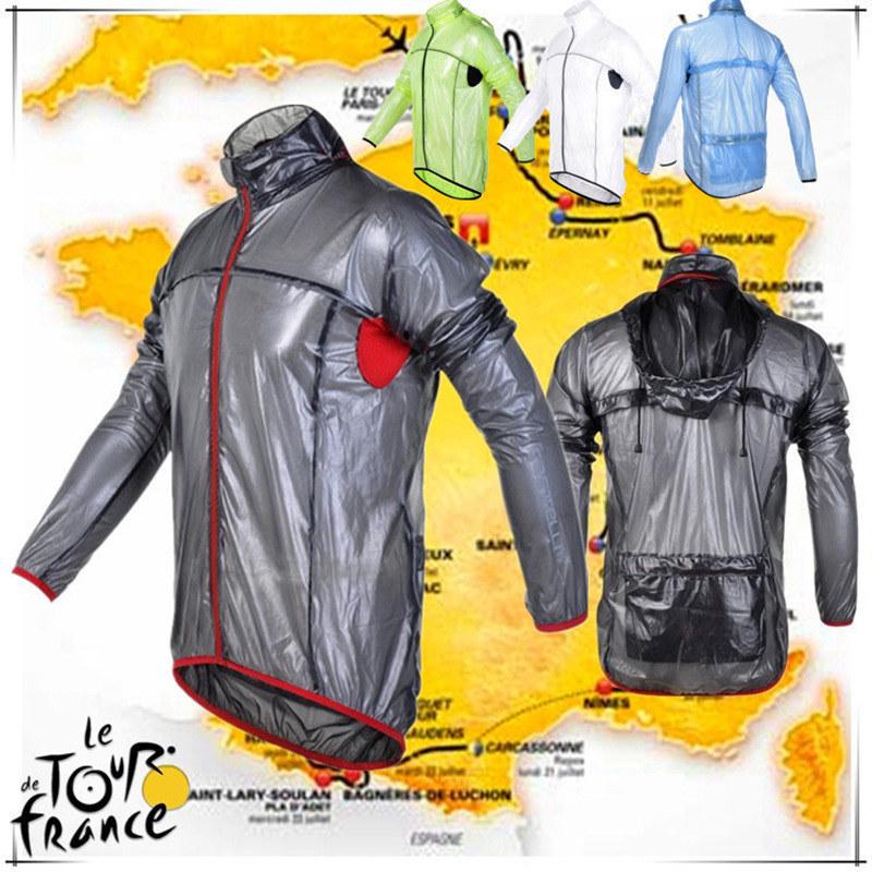 2016 Cycling Raincoat Transparent Soft Reflective Bicycle Jersey Dust Coat Bike Jacket/Rain Coat Windbreaker Waterproof Clothing(China (Mainland))