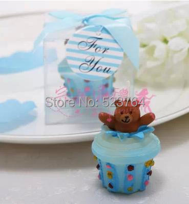 teddy bear cupcake candle baby shower favors birthday gift in candles