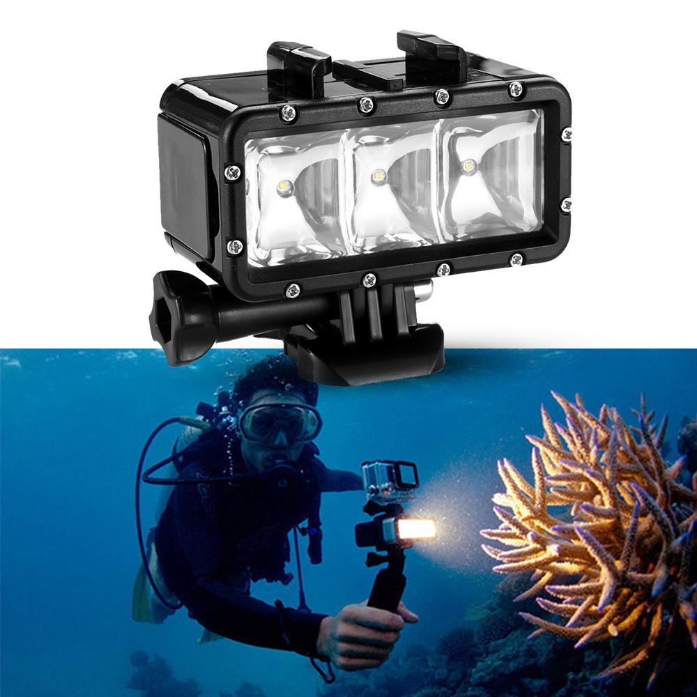 Gopro Underwater Waterproof LED Flash Diving Shooting Fill Light Lamp Mounts For SJCAM SJ4000 Gopro Camera Xiaoyi Sports Camera(China (Mainland))