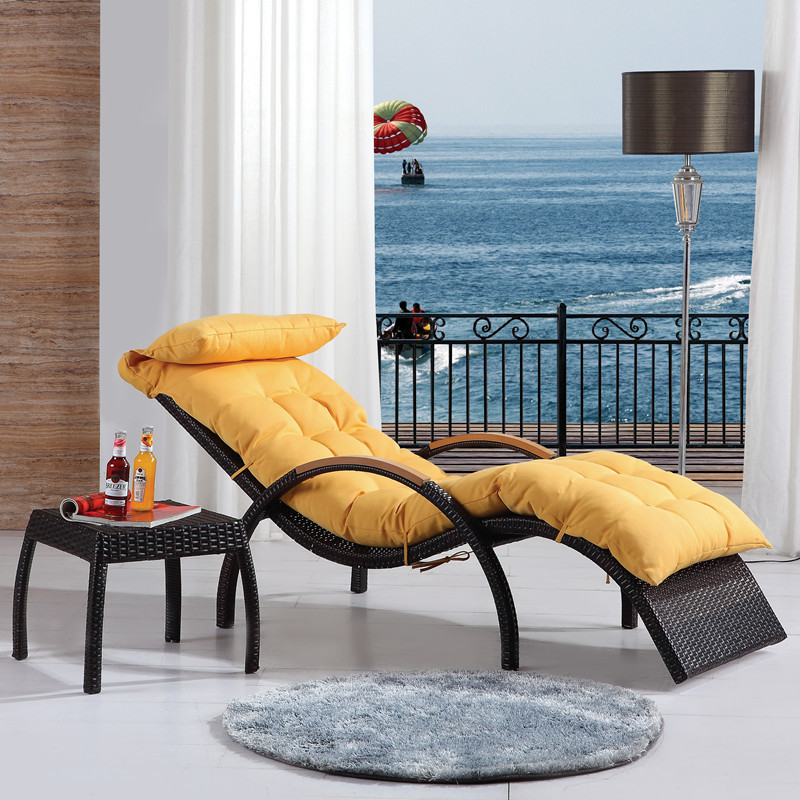 Luxury recliner chair balcony lounge chair wicker chair for Balcony lounge