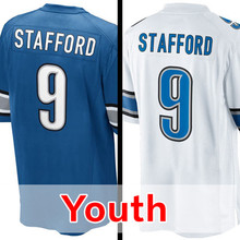 Youth #9 Matthew Stafford Kid's Rush Limited Stafford Embroidery Free Shipping S-XL(China (Mainland))