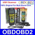 100 Original Memoscan U581 Scanner Live Data U581 Code Reader Free Updated Online CAN BUS OBD2