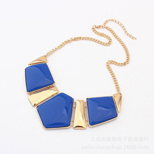 New Maxi Necklace Candy Color Collar Necklaces Pendants Fashion Statement Metal Choker Women 2015 Vintage Jewelry