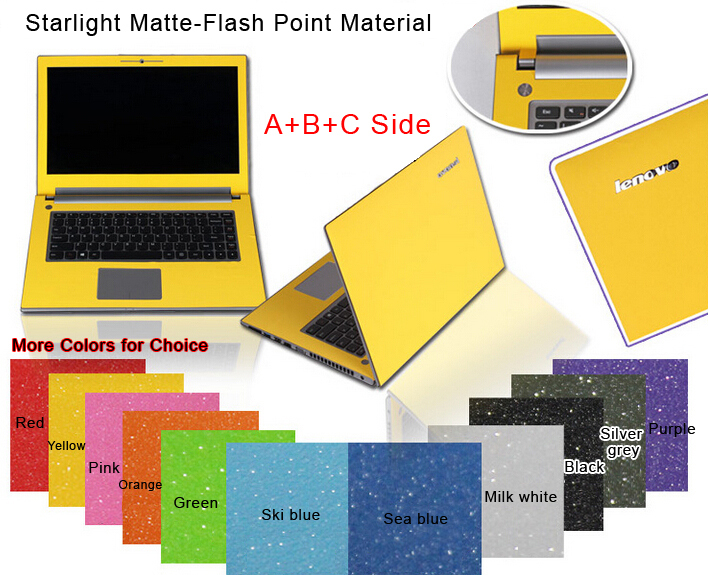 Free cutting Dust-proof Pure Color Laptop Sticke Personality Skins Protective Decal Stickers For Lenovo Y470 Y470P Y470N Case(China (Mainland))