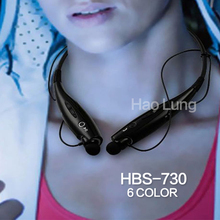 Free shipping HBS-730 Fashion Wireless Bluetooth earphone HandFree Sport Stereo Headset headphone Samsung for iPhone LG(China (Mainland))