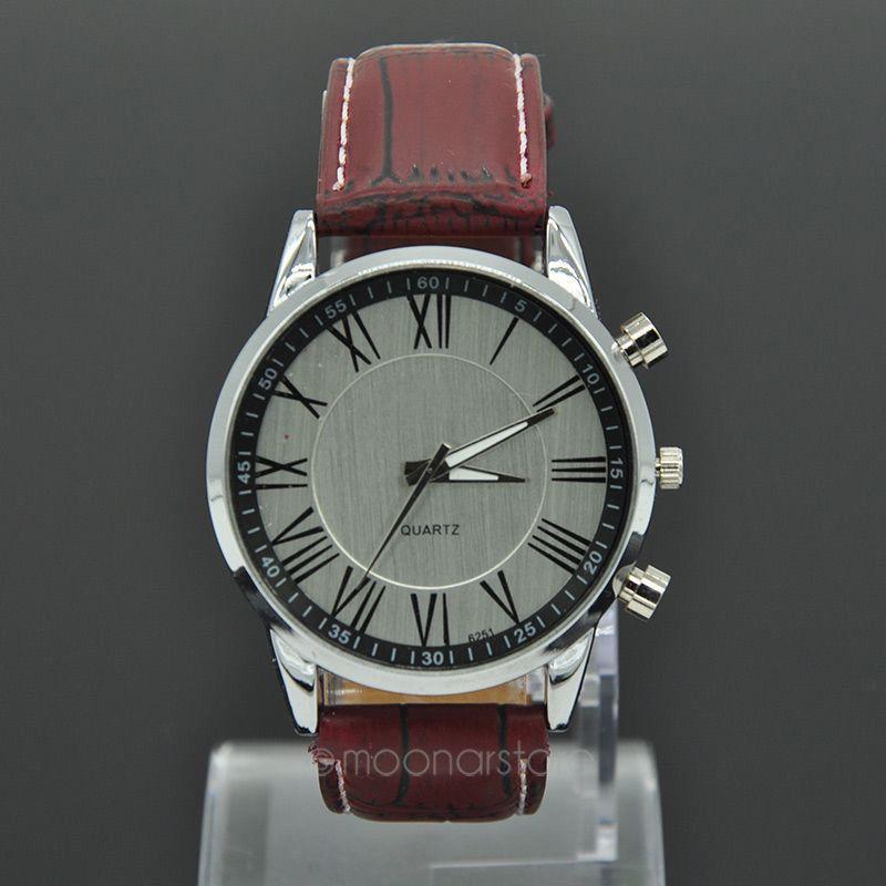 Daily Water Resistant Quartz Watch Fashion 2015 Roman Number Watches Men Brand PU Leather Geneva Men
