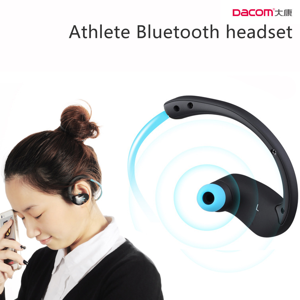 Dacom Athlete Bluetooth Headset Wireless Sport Headphones Headsfree Stereo Audio Music Earphones With Microphone NFC for Phones