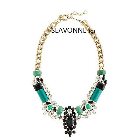 Freeshopping 2013 Fashion statement necklace Vintage Rhinestone crystal necklace statement necklace dropshipping  N1281