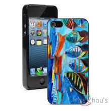 Oil Painting Boats in Sea Protector back skins mobile cellphone cases for iphone 4/4s 5/5s 5c SE 6/6s plus ipod touch 4/5/6