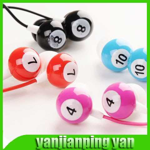 2014 new promotion table tennis snooker Billiards earphone in ear headphones & headphones earphones Free Shipping(China (Mainland))