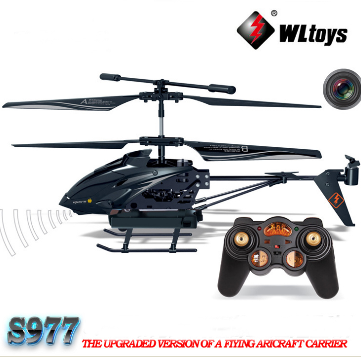 quadcopter WL S977 3.5 CH Radio remote Control Metal Gyro rc Helicopter With Camera phone control helicopter professional drone(China (Mainland))