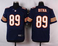 Chicago Bears #75 Kyle Long #54 Brian Urlacher #51 Dick Butkus Elite High-quality free shipping(China (Mainland))